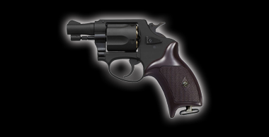 Police Revolver X Cartridge 2inch Black
