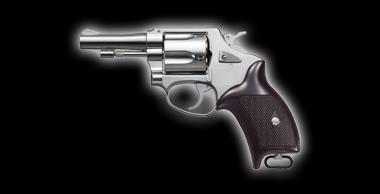 Police Revolver X Cartridge 3inch Silver