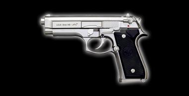 U.S.N 9mm M9 Dolphin Silver