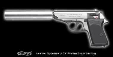 WALTHER PPK Silver Silencer Model