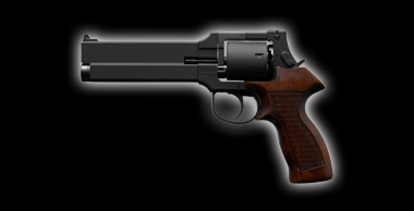 Mateba Revolver X Cartridge with Wooden Grip