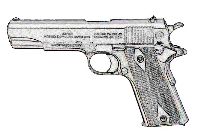M1911 100th線画